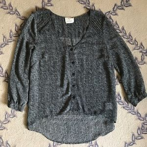 Pins and Needles Grey Top, Size S